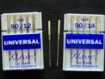 Sewing Machine Needles 80/12 and 90/14