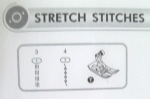 All Purpose Presser Foot Stretch Stitches