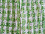 Green/White Boucle Fabric Swatch