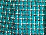 Teal/Black/White Boucle Fabric Swatch