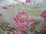 Pink  Floral Brocade Fabric