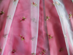 Pink Floral Chiffon Fabric