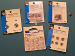 Different Fasteners such as Snaps and Hook and Eye