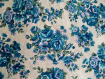 Blue Floral Cotton Fabric