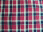 Navy/Burgundy Plaid Cotton Fabric