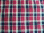 Navy/Burgundy Plaid Cotton Fabric