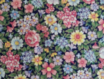 Green Floral Leaf Cotton Fabric