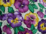 White Panzy Floral Cotton Fabric