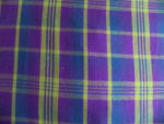 Purple/Blue Plaid Cotton Fabric