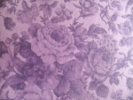 Purple Floral Cotton Fabric