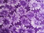 Purple Floral Cotton Fabric