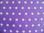 Purple/White Polka Dot Cotton Fabric