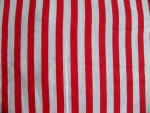 Red/White Stripe Cotton Fabric