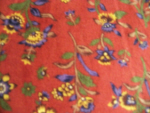 Rust Indian Print Cotton Fabric