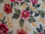 Rust/Yellow Floral Cotton Fabric