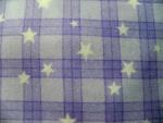 Lavendar White Star Flannel Fabric