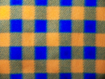 Blue/Orange Plaid Fleece Fabric