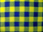Blue/Yellow Plaid Fleece Fabric