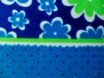 Flowers and Dots Fleece Fabric
