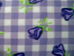 Lavender Floral Fleece Fabric