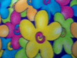 Multi-Color Floral Fleece Fabric