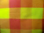 Yellow/Orange Plaid Fleece Fabric