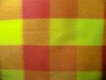 Yellow/Orange Plaid Fleece Fabric
