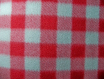 Red/Grey Plaid Fleece Fabric