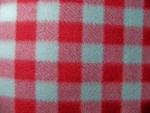 Red/Grey Plaid Fleece Fabric