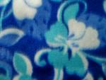 Multi Blue Floral Fleece Fabric