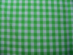 Lime Green Gingham Fabric