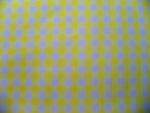 Yellow Gingham Fabric