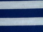 Blue/White Interlock Knit Fabric