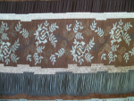 Brown Patterned Jacquard Swatch