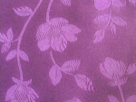 Purple Floral Jacquard Fabric