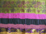 Swatch Jacquard Purple/Gold Fabric