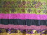 Swatch Jacquard Purple/Gold Fabric