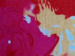 Fuschia/Red/Ivory Fabric