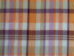 Orange and Lilac Madras Fabric