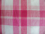 Pink and White Madras Fabric