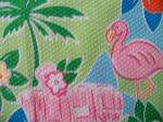 Flamingo Design Pique Fabric