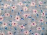Lilac Floral Pique Fabric