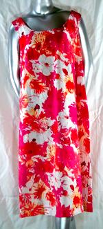 Pink Floral Linen Tank Dress
