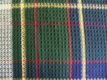 Navy and Green Plaid Fabric