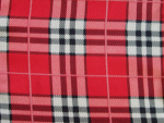 Red/White/Black Plaid Fabric