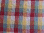 Rust Plaid Fabric
