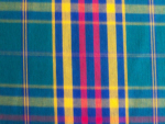 Teal and Red Plaid Fabric