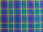 Teal/Yellow/Fuschia Plaid Fabric