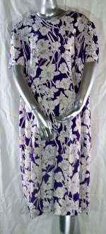 Linen Purple Floral Dress