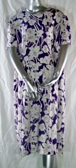 Linen Purple Floral Dress